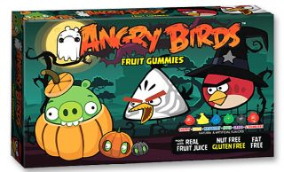 Angry Birds Halloween Candy Fruit Gummies Theater Box Gluten Fat Free 3 5 Oz