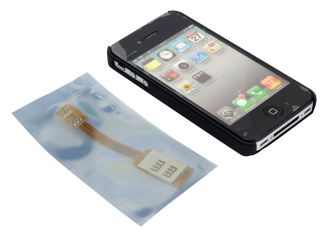 Phone Qsim Dual Sim Card Double Sim Adapter for Apple iPhone 4 4S Use Two Sim