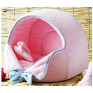 Princess Pet Dog Cat House Bed Kennel Pink Large