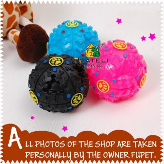 New Pet Dog Cat Food Squeaky Fetch Sound Puppy Toy Chew Jolly Fun Ball 3 Sizes