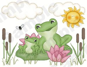 Frogs Froggy Nursery Baby Childrens Kids Wall Art Border Stickers Decals Decor