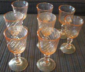 Pink Depression Glass Cordial