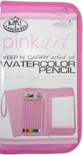 Watercolor Pencil Keep N' Carry Artist Set 15 PC Pink by Royal Complete Set