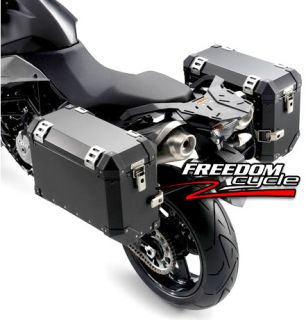 KTM 990 SMT SMR Black Aluminum Side Cases Carrier System Saddl Luggage