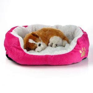 New Soft Kennel Pet Dog Puppy Cat House Fleece Warm Bed Plush Cozy Mat Pad