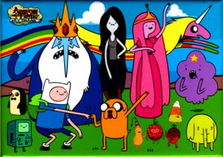 Whole Cast Adventure Time with Finn and Jake Fridge Magnet Cartoon Network