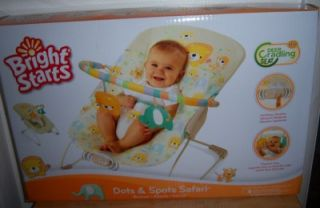 CLEARANCE Bright Starts Dots Spots Safari Bouncer Baby Shower Lion