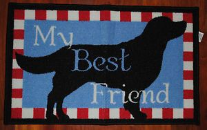 Best Friend Rug Dog Mat Puppy Pet Food Bowl Floor Protector Holiday Gift New