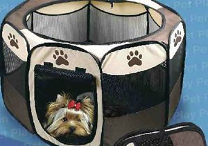 Pet Playpen Dog Play Pen Puppy Pen Large Size Folding Design Easy Storage E4593
