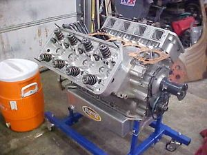 541 Blown Hemi Drag Race Engine TFX 96 Cast Block Brad 5 Heads 4 375 x 4 500