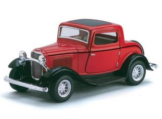 1932 Ford 3 Window Coupe Diecast 1 34 Scale Red