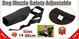 Large Size Adjustable Pet Puppy Dog Muzzle Mouth Cover No Biting Barking Chewing
