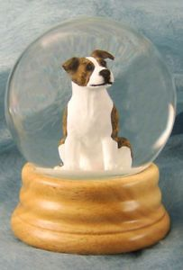 Staffordshire Bull Terrier Wood Carved Dog Water Globe Home Decor Dog Products