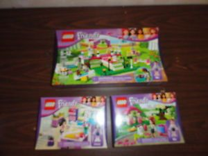 Lego Friends 3 Sets Heartlake Dog Show Mias Puppy House Emmas Fashion Studio