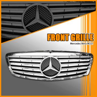 07 08 09 Mercedes W221 S350 S550 s Class Front Grille Authentic Star Emblem