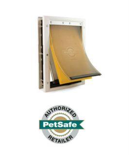 PetSafe Extreme Weather Pet Dog Doors w Triple Flaps Large Med Small Sizes