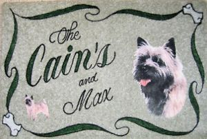 Cairn Terrier Dog Door Mat Personalized Dog Breeds