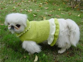 Dog Sweaters Winter Pet Clothing Hand Knitting Knitted Dog Sweater Dresses Skirt