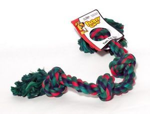 Mammoth Flossy Chew 4 Knot Rope Multi Color Dog Toy XLG