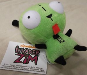 Cute New Green Alien Invader Zim Dog Suit Gir Robot Mini Plush Stuffed Toy Doll