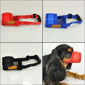 3 Colors Adjustable Soft Mesh Nylon Pet Dog Racing Anti Bark Chew Mask Muzzle