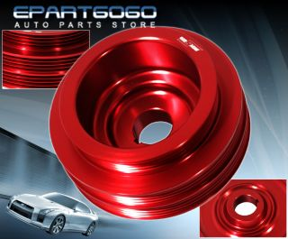 Honda Acura B16A Engine Motor Bay Red Underdrive Crank Pulley Performance JDM