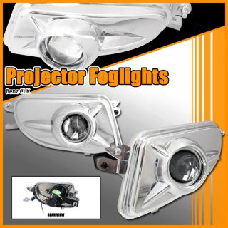 98 02 Mercedes W208 CLK Clear Projector Fog Lights Kit