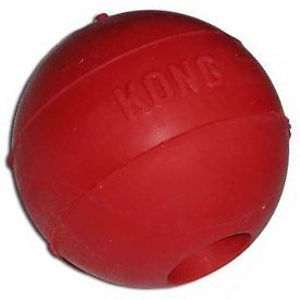 "Kong Rubber Ball Bouncing Dog Toy Small Medium 2 5"" Durable Puncture Resistant"