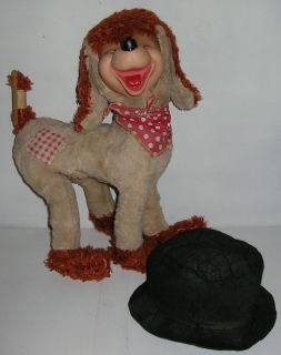 Vintage 1960s Ideal Toy Hobo Tramp Rubber Face Dog Stuffed Animal Plush Doll