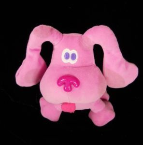 "7"" Blue Clues Eden Pink Dog Puppy Puppies Plush Stuffed Toy"