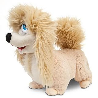 Disney Lady and The Tramp Peg Premium Plush Stuffed Doll Pekingese Show Dog New