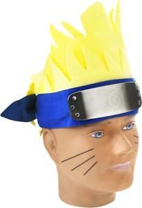 Naruto Cosplay Anime Yellow Halloween Costume Wig Hair