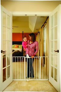 Extra Super Wide Walk thru Baby Child Pet Dog Safety Gate Pen Toddler Fence Bloc