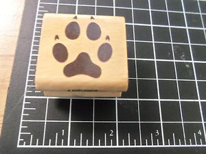 Rubber Stamp Stamp Craft Paw Print Animal Wolf Dog Nature Outdoors