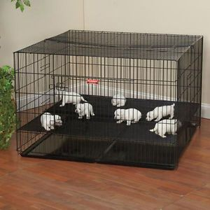 "Large Puppy Playpen Close Spacing 48x48x30""H Top Front Doors Pet Pen Dog Cage"