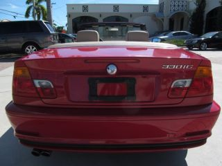 02 Electric Red 330 IC Automatic Convertible Low Miles 17 in Alloy Wheels