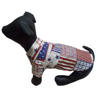 Stars Stripes Cotton Dog Shirt Shirts Classy Dog Clothes Pet Supplies All Size