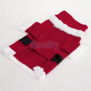 Santa Claus Pet Dog Costume Outfit Sweater Hat Coat Clothes Apparel Garment XS