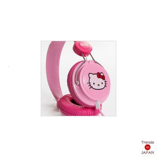 Hello Kitty Sanrio Coloud ZD Headphone Head Phone Stereo Ear Pink Label New