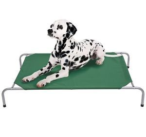 "New 51"" Elevated Camping Pet Bed Cot Portable Dog Cat Sleep Beds Green"