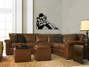 Wall Mural Vinyl Decal Sticker Design Interior Anime Cople in Love OS521