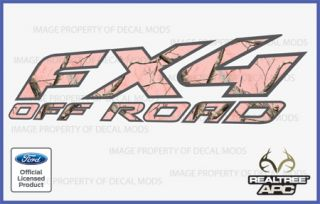 97 08 Ford FX4 Off Road Decal Sticker Set APC Pink Realtree Camo Camouflage Deer
