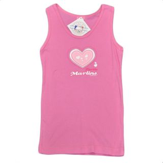 MLB Florida Miami Marlins Youth Kids Girls Baseball Heart Tank Top Pink Cotton