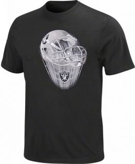 Oakland Raiders NFL Team Apparel Black Helmet Tee Shirt Big Tall Sizes