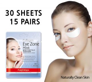 30 Sheet Purederm Collagen Eye Zone Mask Dark Circles White Mask Wrinkle Care