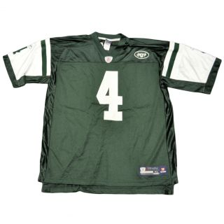 NFL Reebok Brett Favre 4 New York Jets Football Mesh Authentic Jersey Shirt XLRG