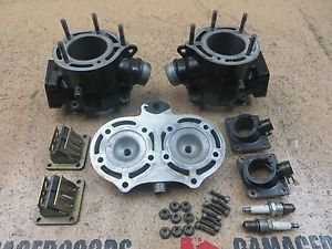 2003 03 Yamaha Banshee YFZ350 YFZ 350 Engine Cylinders Top End Jugs Head Heads