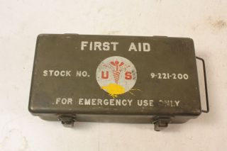 WWII Motor Vehicle First Aid Kit Stocked