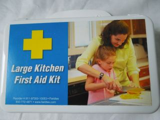 Large Kitchen First Aid Kit Case with Convenient Handle