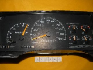 98 99 00 Chevy Pickup Tahoe GMC Speedometer Instrument Cluster Panel 194 583